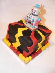 Robot retro cake