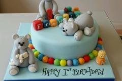 1st Birthday Bears cake