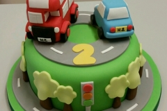 Road and cars cake childrens