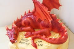 Dragon Hobbit cake