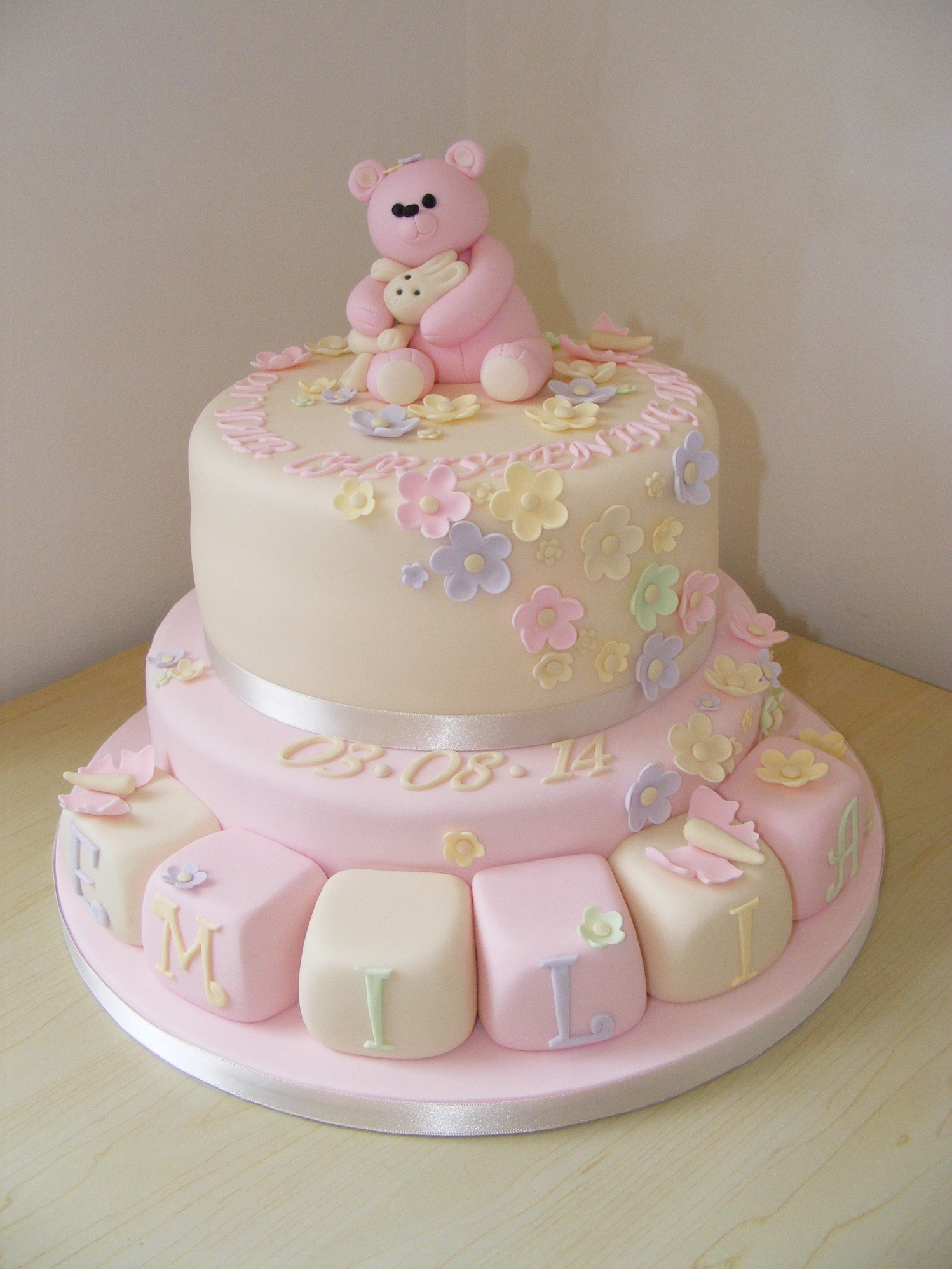 Simple Baptism Cakes For Girl