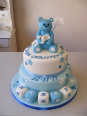 Teddy-bear-Christening-tiered-cake