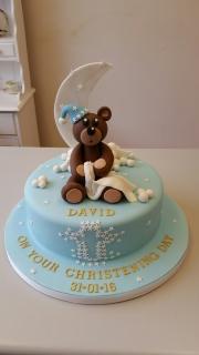 Bedtime Bear Christening cake