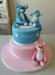 Boys and girls Christening cake