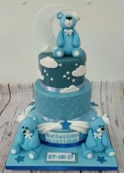 Bears Christening cake