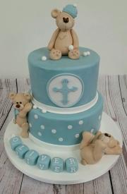Bear Christening cake