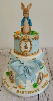 Boys Christening  peter Rabbit cake