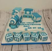 Train Boys Christening cake