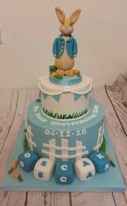 Peter Rabbit Christening cake