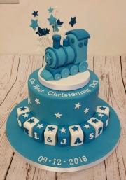 Boys train Christening cake