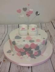 Girls Christening  baby Shower cake
