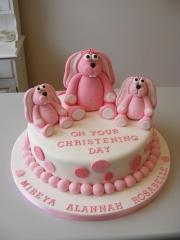 Pink-Bunny-Rabbit-Christening-cake