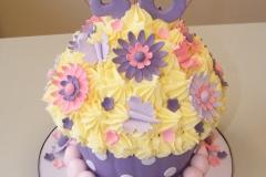 Giant flowery cupcake
