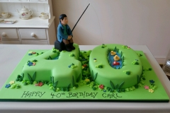 Mens 40th Fishing birthday cake