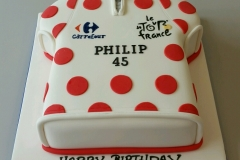 Mens Le Tour de France bike shirt cake