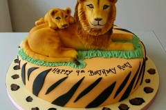 Lion and cub birthday cake
