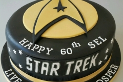 Mens 60th Star Trek cake