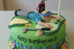 Mens golf birthday cake