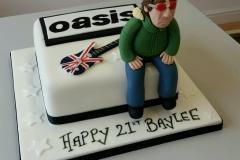 Oasis birthday cake