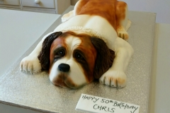 Mens St Bernard dog birthday cake