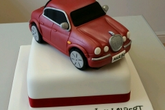 Mens Jaguar XJ6 birthday cake