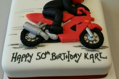 Mens 50th Motorbike birthday cake