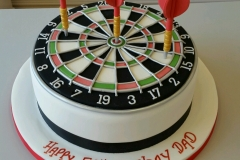 Mens 50th Dartboard birthday cake