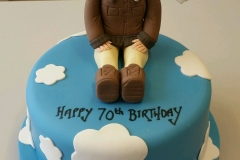 Mens 70th Pilot Flying birthday cake