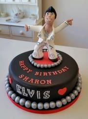 Ladies 50th Elvis Presley cake