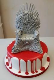 The Iron Throne Game of thrones birthday cake