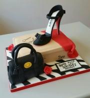 Ladies 30th stiletto and shoe box cake