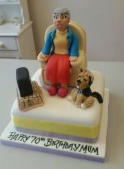 Ladies armchair cake