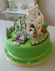 Ladies garden greenhouse birthday cake