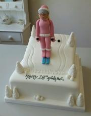 Girls 18th skiing birthday cake