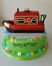 Ladies 30th Barge birthday cake