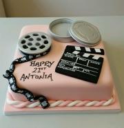 Girls 21st film media cake