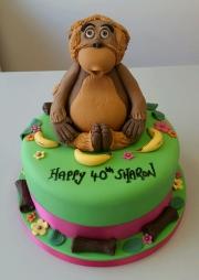 Ladies 40th orangutan birthday cake