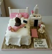 Girls bedroom birthday cake