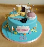 Ladies 60th Sewing birthday cake