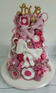 Ladies Bows and broaches birthday cake