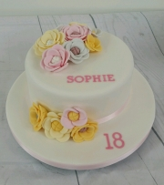 Girls 18th birthday cake