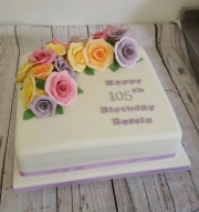 Ladies 105th birthday cake