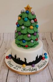Girls 21st Christmas in New York cake