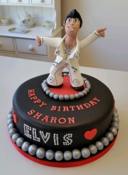 Ladies 50th Elvis Presley cake