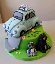 VW Beatle  21st cake