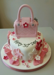 Ladies 30th heart shape cake