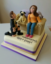 The proposal engagement cake