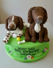 Springer spaniel dog birthday cake