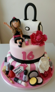 Girls 16th birthday cake