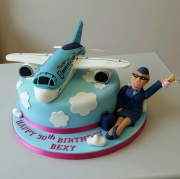 Ladies cabin crew 30th birthday cake